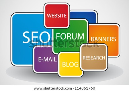 Search engine optimization template background