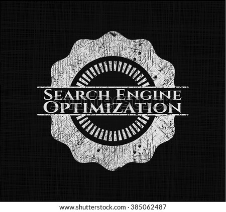 Search Engine Optimization with chalkboard texture