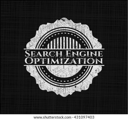 Search Engine Optimization written on a chalkboard