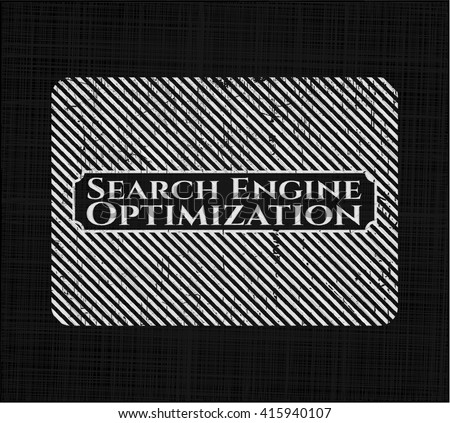 Search Engine Optimization written with chalkboard texture