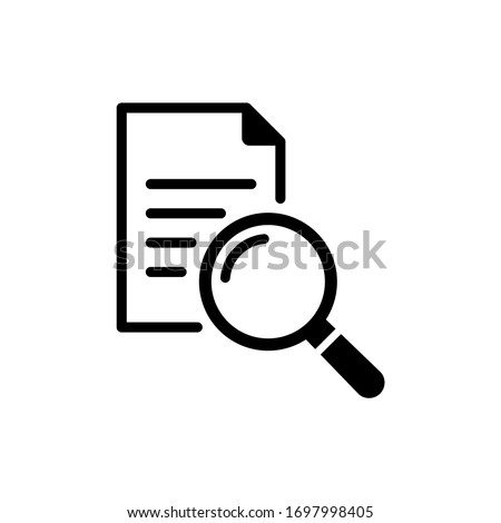 Search file icon vector with flat style isolated