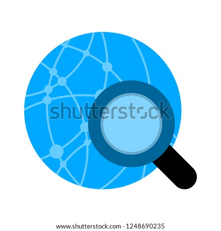 search global net icon - Global search sign icon. World globe symbol
