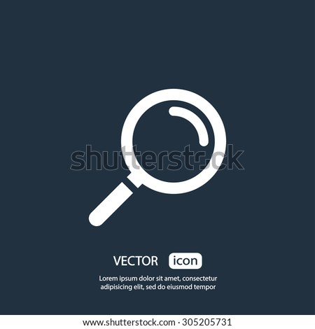 Search icon. One of set web icons