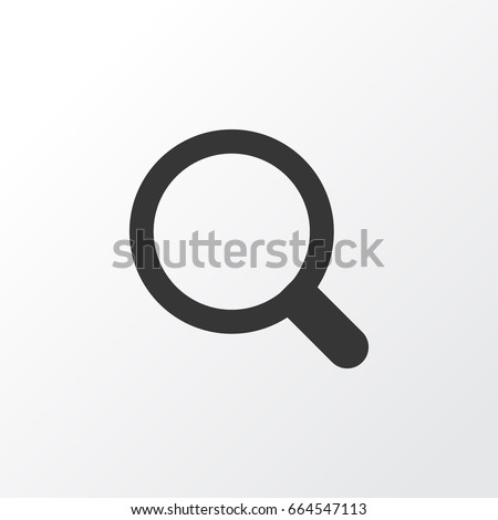 Search Icon Symbol. Premium Quality Isolated Magnifier Element In Trendy Style.