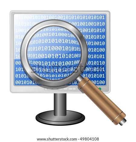 Search icon, vector - stock vector