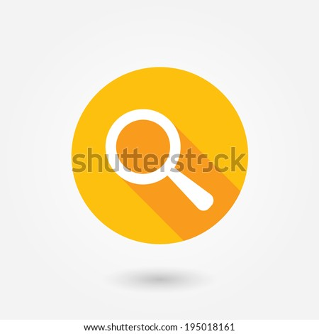Search icon, vector illustration. Flat design style. Focus, investigation, view, look, find sign.
