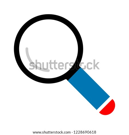search icon - zoom symbol, magnifying glass symbol - find icon