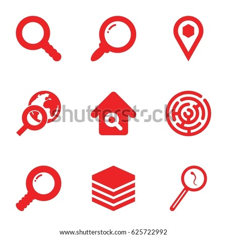 search icons set set of 9