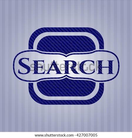 Search jean or denim emblem or badge background