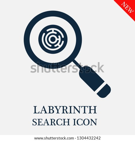 search Labyrinth icon. Editable search Labyrinth icon for web or mobile.