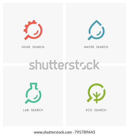 search logo set gear wheel or