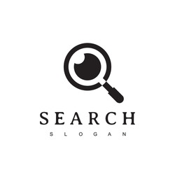 Search Logo With Magnifying Glass And Eye Symbol