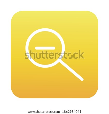 search magnifying glass with minus block gradient style icon vector illustration design