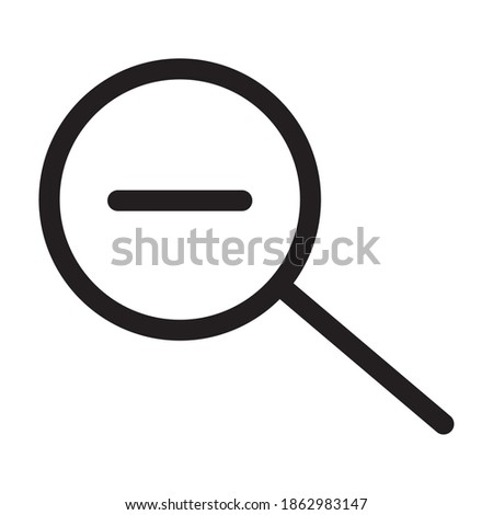 search magnifying glass with minus line style icon vector illustration design