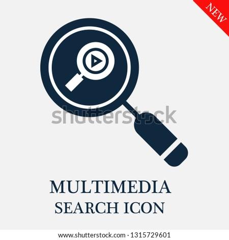 search Multimedia icon. Editable search Multimedia icon for web or mobile.