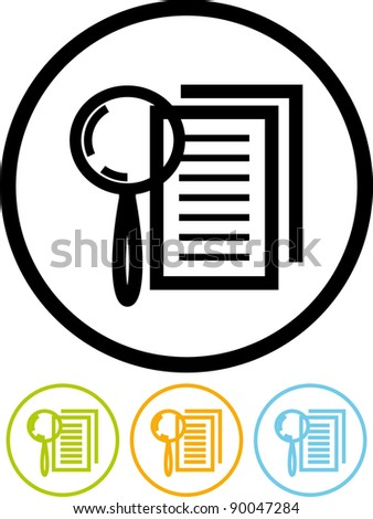 Search the document - Vector icon - stock vector
