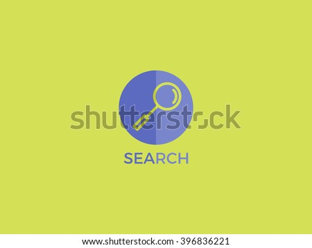 Search vector logo. Search line icon with circle.