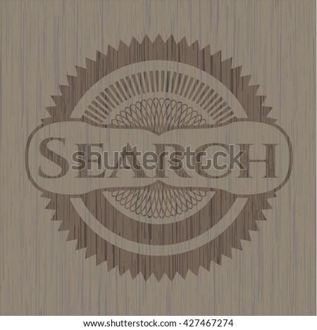 Search vintage wooden emblem