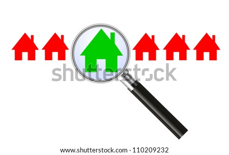 Searching for a house - concept