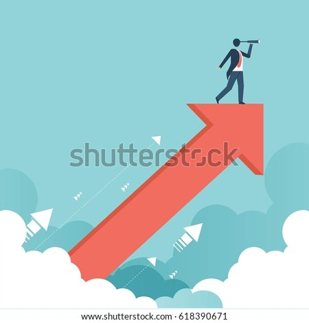 Searching for opportunities of growth. Business concept vector design.