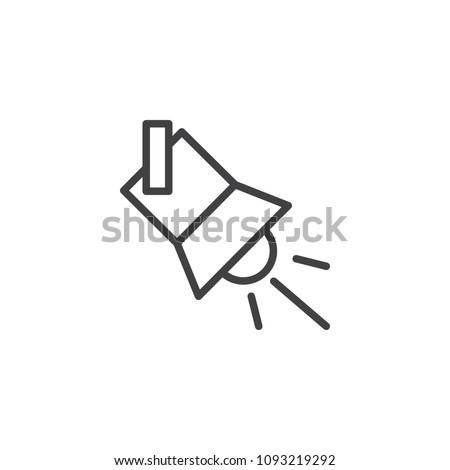 Searchlight outline icon. linear style sign for mobile concept and web design. Spotlight simple line vector icon. Symbol, logo illustration. Pixel perfect vector graphics