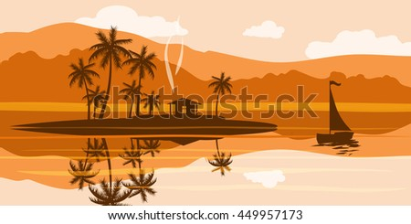seascape at sunset  tropical