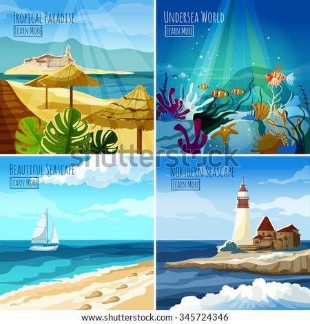seascape design concept set