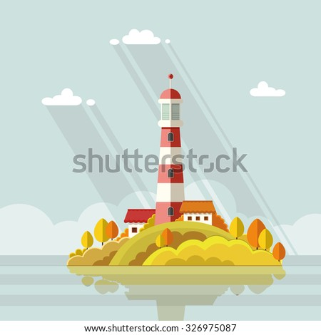 seascape lighthouse on the