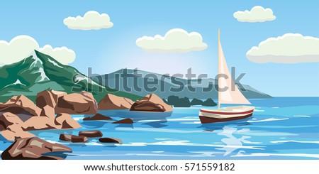 seascape  rocks  cliffs  a