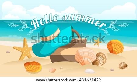 seascape  sea  beach  beach bag