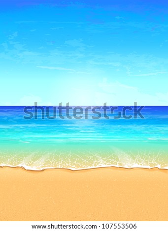 seascape vector illustration