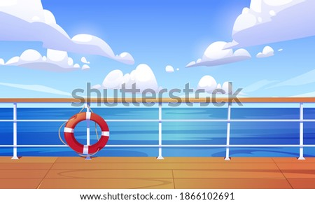seascape view from cruise ship