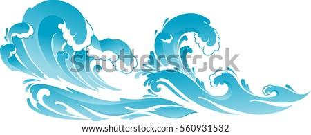 seascape wide illustration