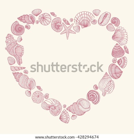 seashell frame in the shape of