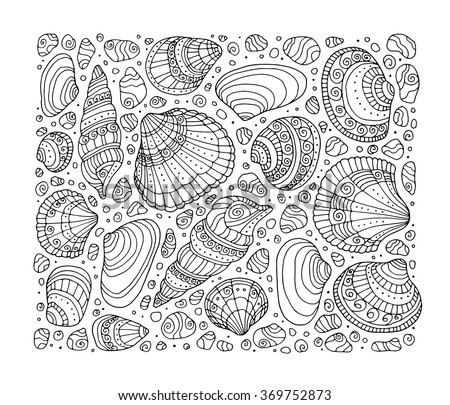 seashell pattern art background