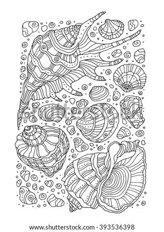 seashell pattern art background