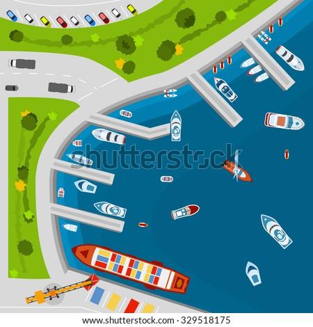 seaside dockyard harbor