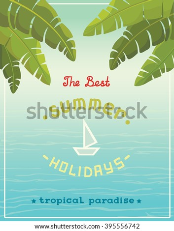 seaside view poster with text