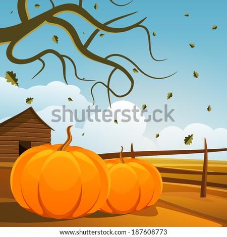 Season autumn landscape background.