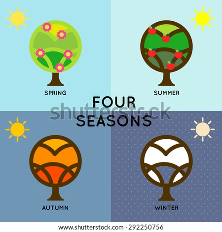 season change depict of four