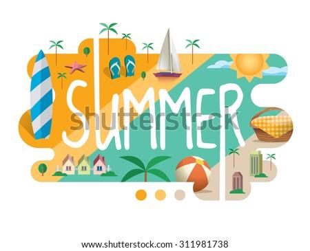 season collection   summer flat
