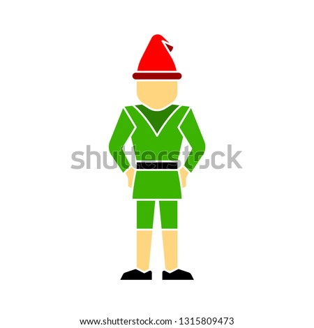 Season Greetings, Christmas card, cute little Gnome, vector Christmas illustration