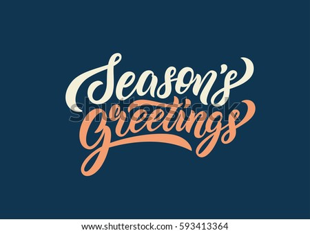 Season greetings lettering text banner. Vector illustration.