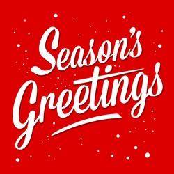 Season greetings typography art vector illustration