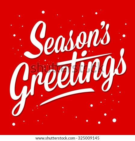 season greetings typography art ...