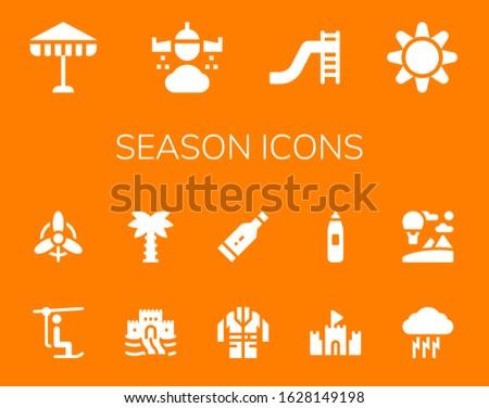 season icon set 14 filled