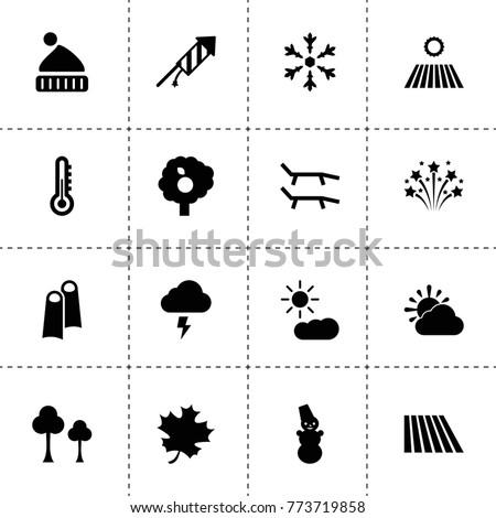 season icons vector collection