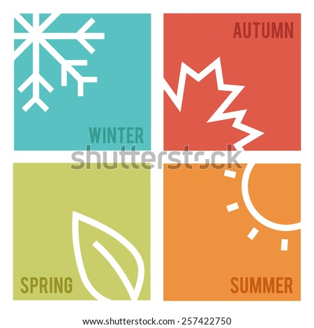 Season icons.Vector illustration. stock photo