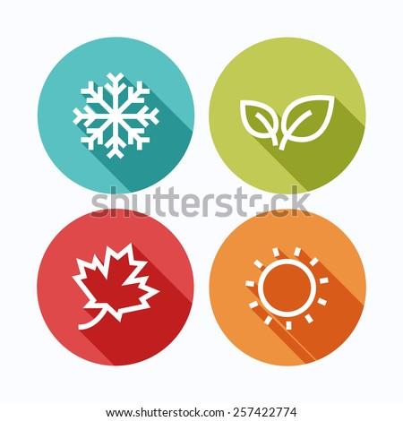 season iconsvector