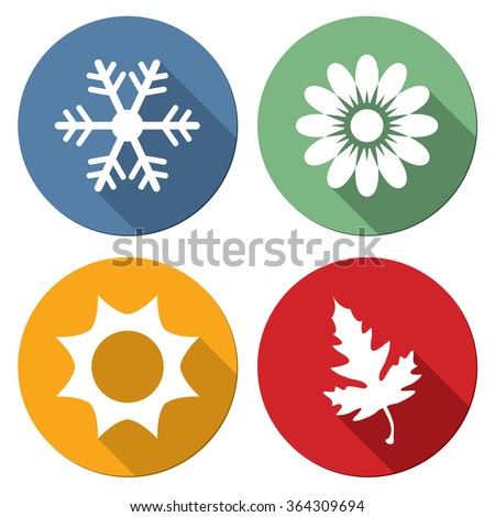 Season icons vector illustration.